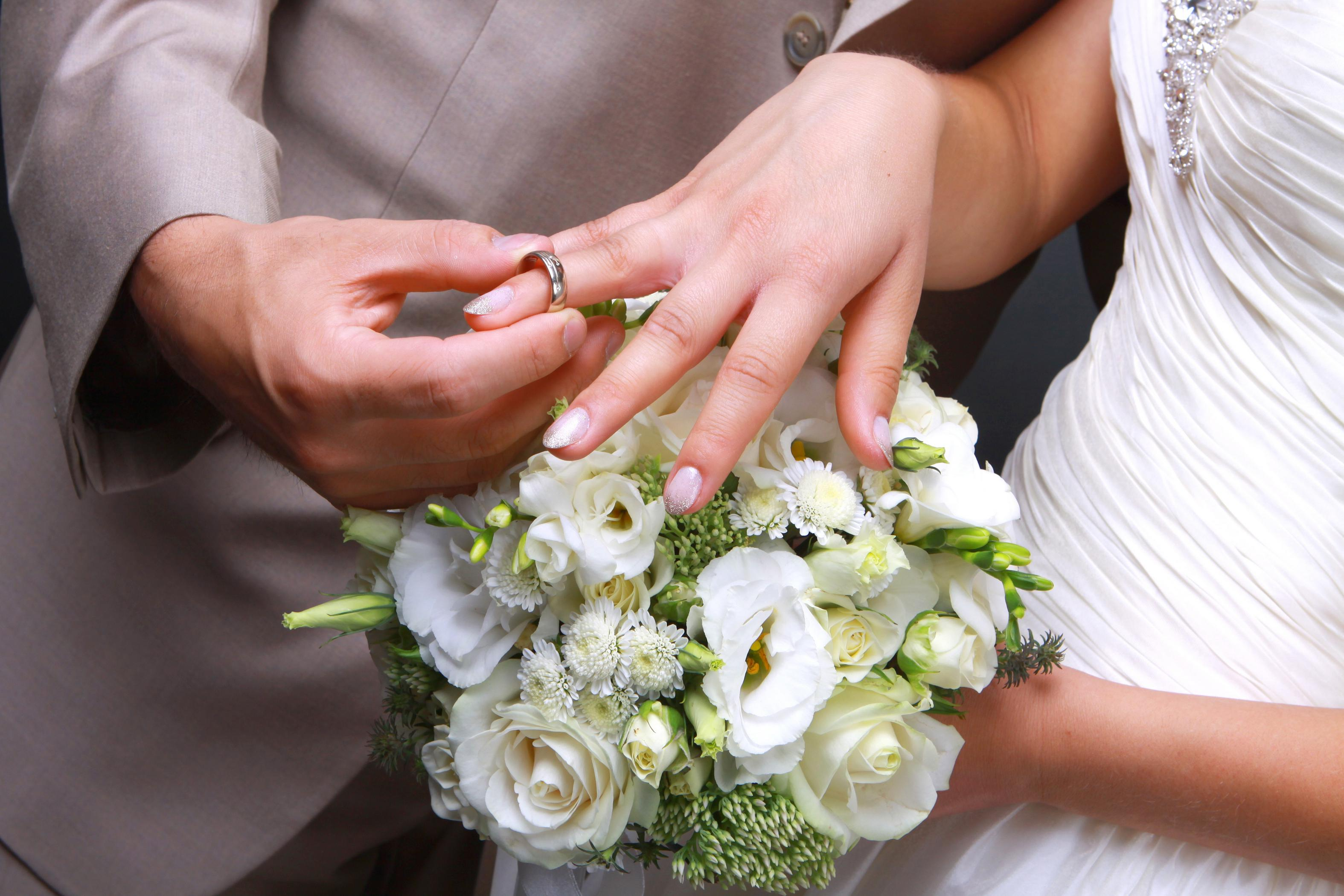 Wedding rings for the Bride and Groom  Chapelle